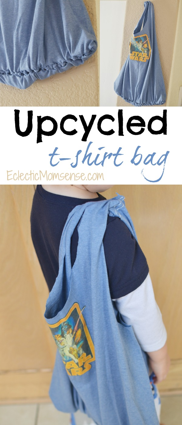 No-Sew T-Shirt Bag - Easy DIY upcycle.