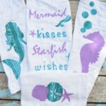 Mermaid Cloth Diaper Burp Cloths