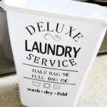 Vintage Laundry Hamper Decal