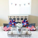 Red, White, & Blue Farmhouse Table Decor Ideas