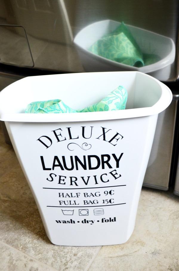 Vintage Laundry Hamper Decal Eclectic Momsense