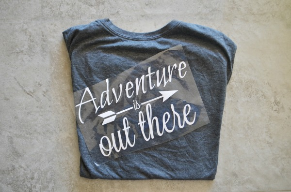 Adventure t-shirt steps