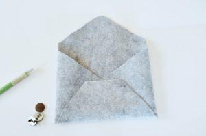 No-Sew Felt Envelope Pouch