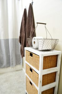 Rustic Wicker Drawer Makeover