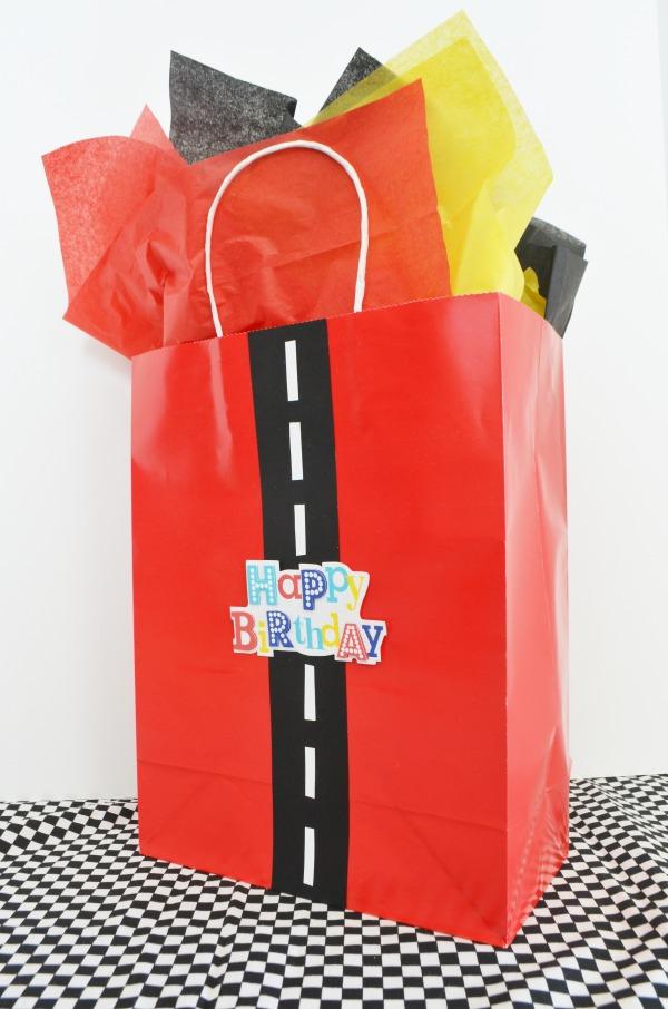 Race Track Gift Bag