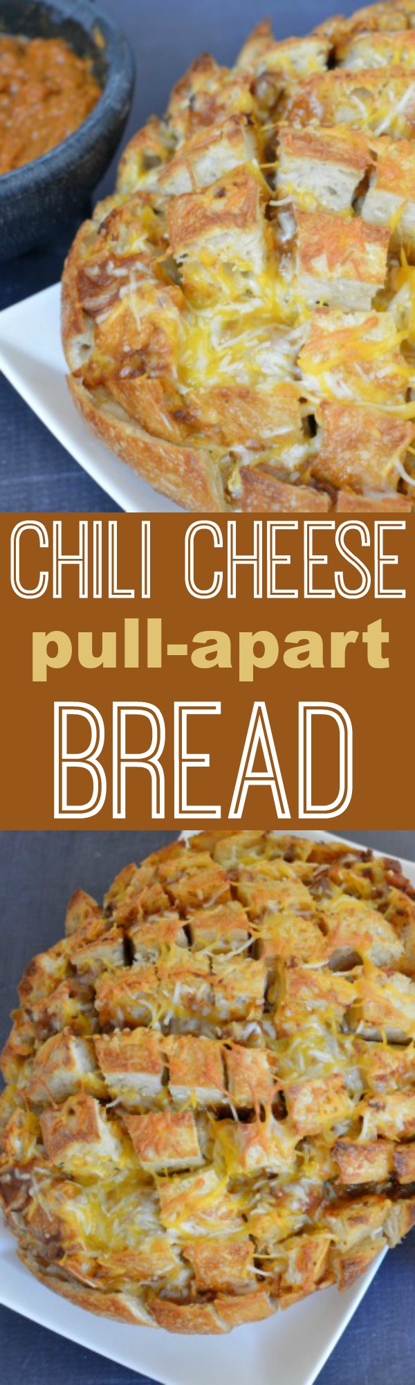 Chili Cheese Pull Apart Bread | Chewy sourdough bread stuffed with cheese chili and taco spiced butter.