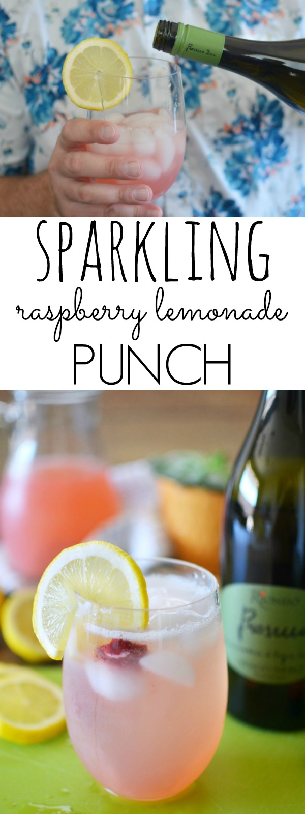 Sparkling Raspberry Lemonade Punch