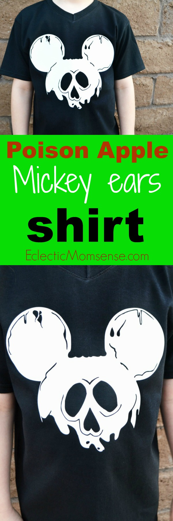 DIY Disney Poison Apple Mickey Ears Shirt | #craft #disney