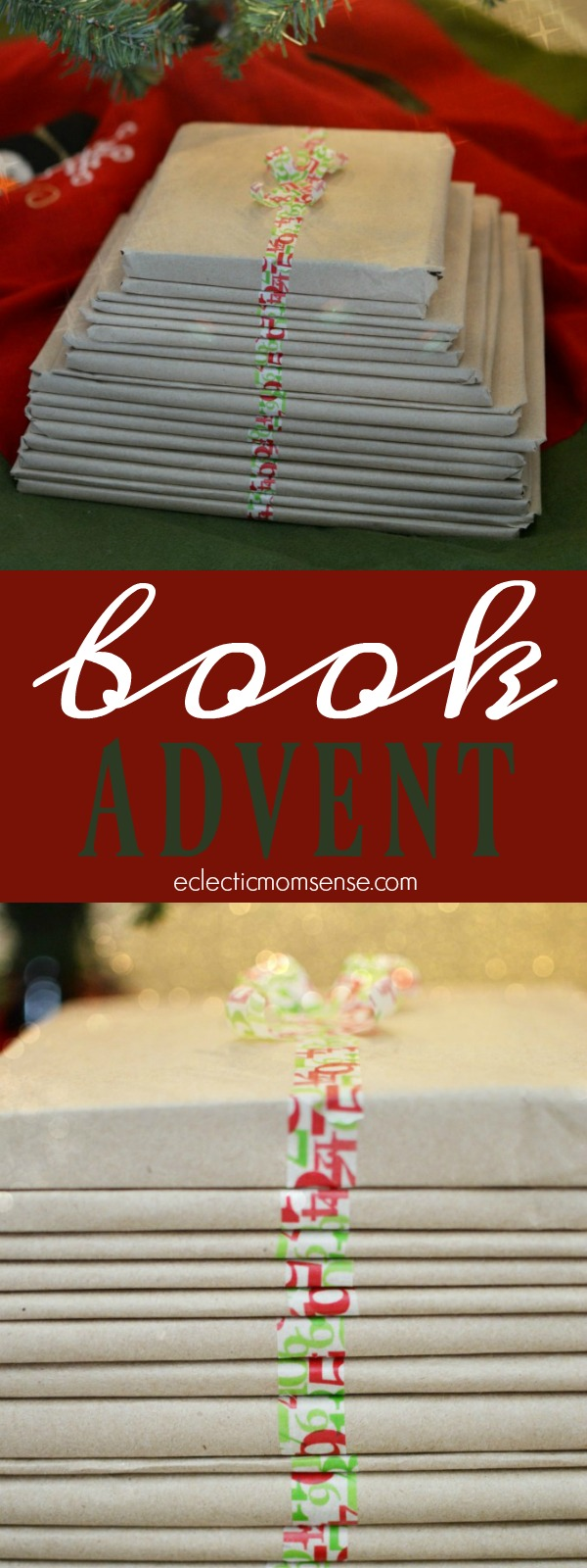 Christmas Book Advent- 24 days of holiday cheer.  A unique and easy way to dress up your book advent.