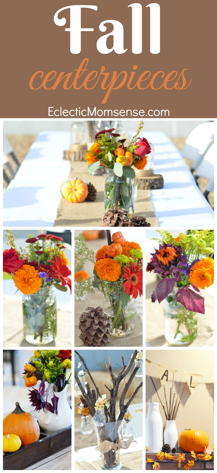Simple Fall Arrangements | Elegant arrangement ideas with a helping of rustic charm.