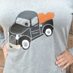 Fall Vintage Truck Shirt Design