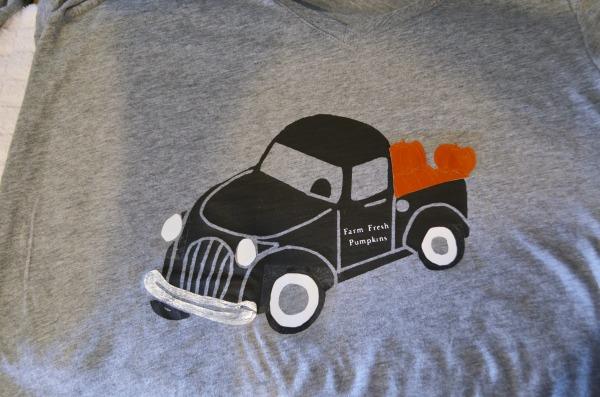 vintage truck pumpkins cut file