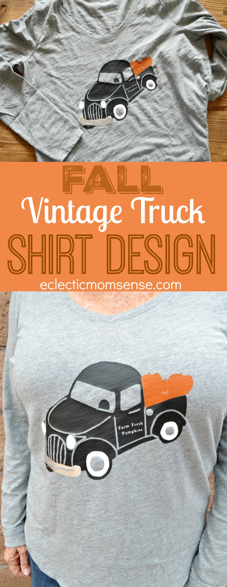 Vintage Harvest Truck cut file | Create an adorable Fall vintage truck shirt