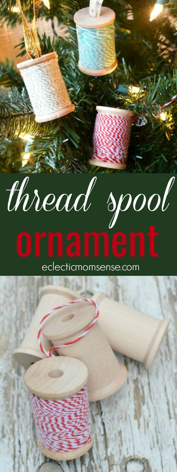 Thread Spool Ornament | easy handmade ornament #craft #christmas #ornament #handmade