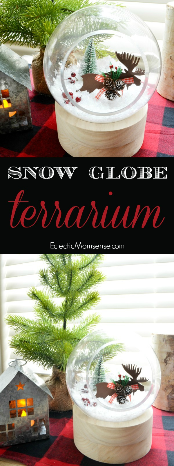 winter snow globe terrarium