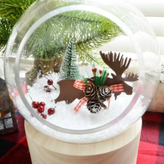 winter terrarium snow globe