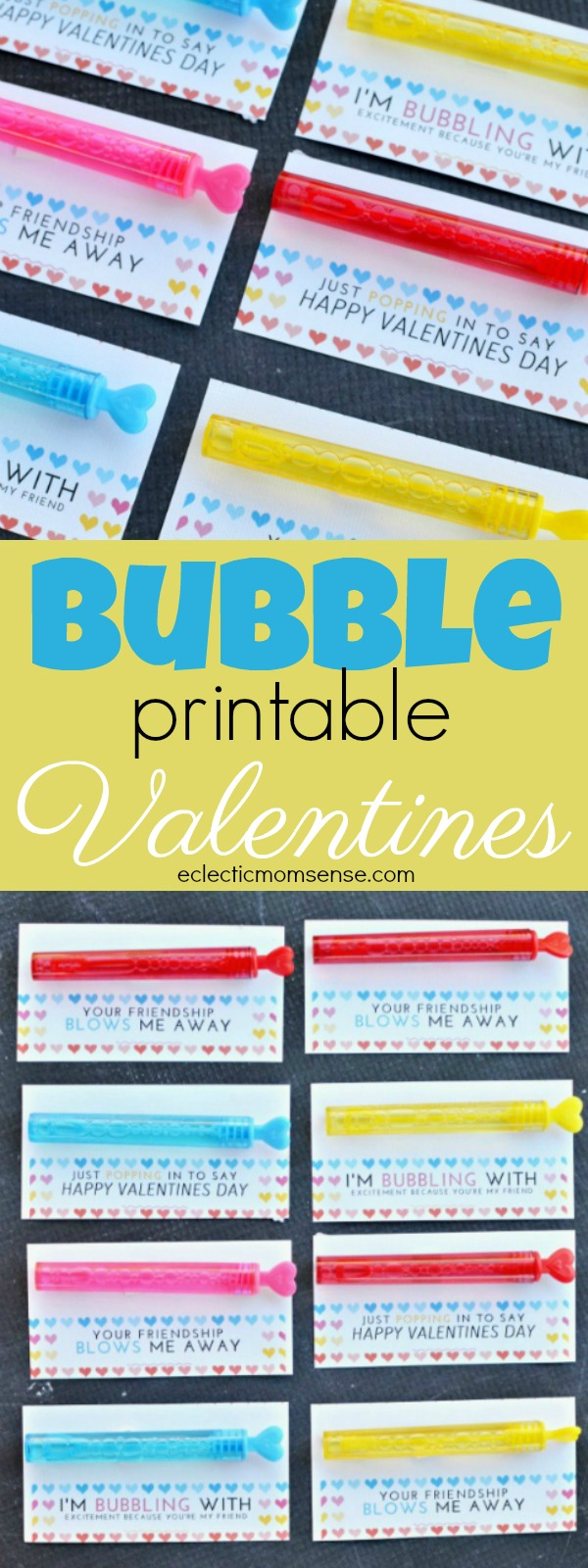 Printable Bubble Valentines