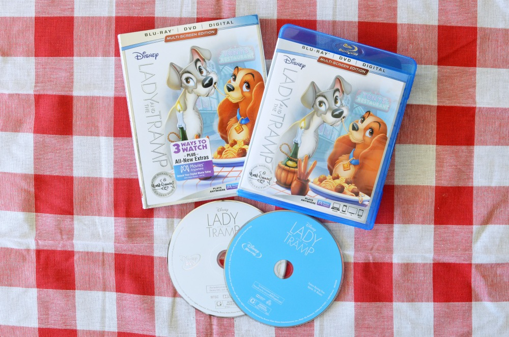 Disney's LADY AND THE TRAMP Blu-Ray