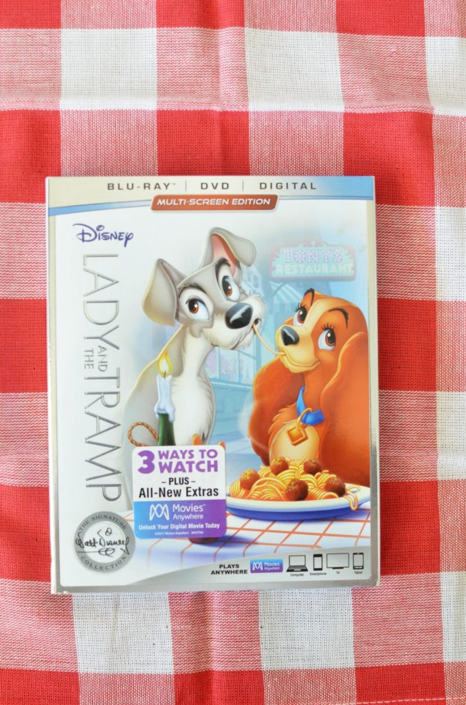 Disney's LADY AND THE TRAMP Blu-Ray and DVD