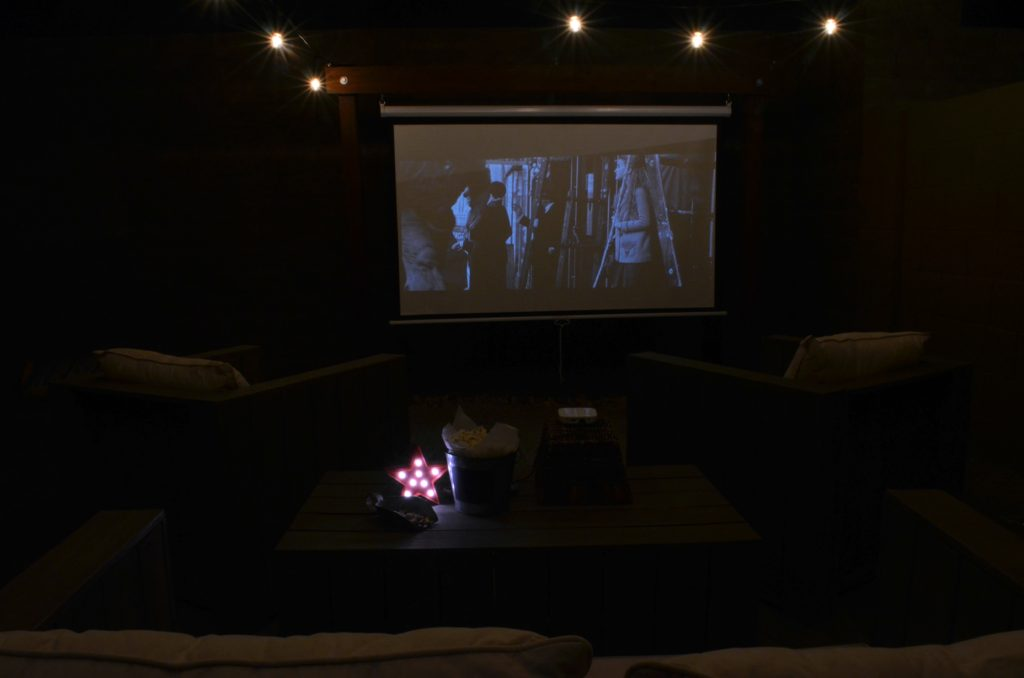 outdoor movie space