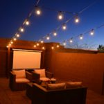Outdoor Entertaining | How to Hang Cafe Lights