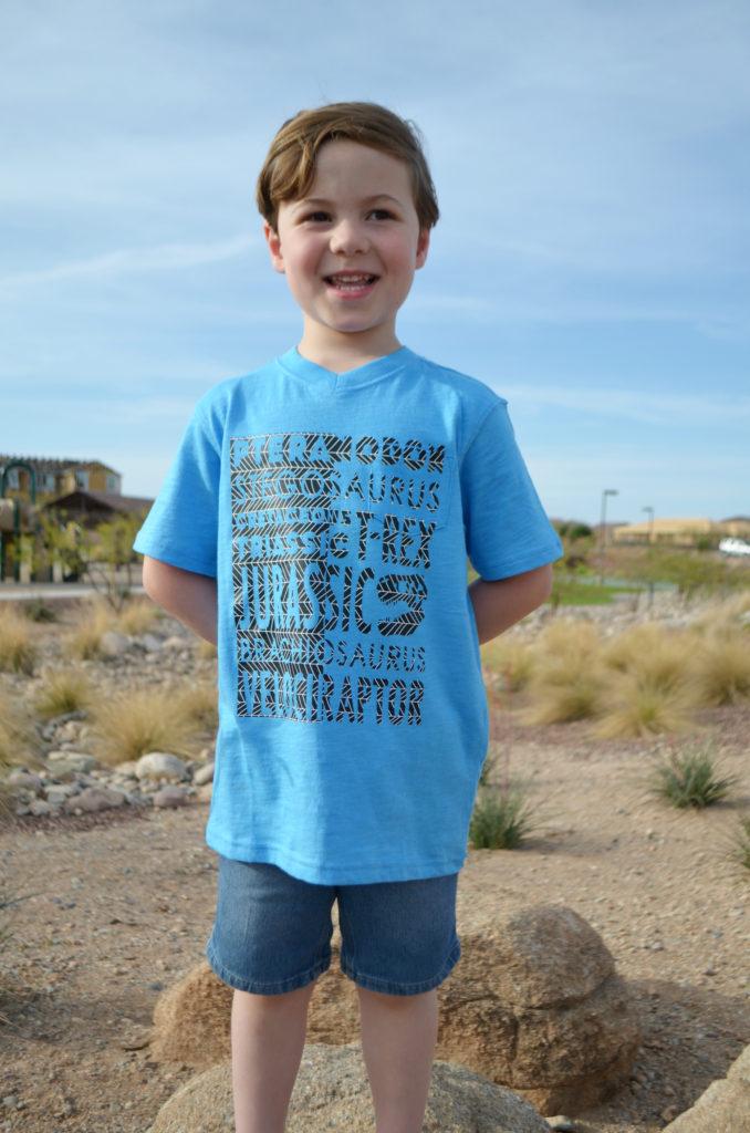 Dino Patterned Iron-On Shirt