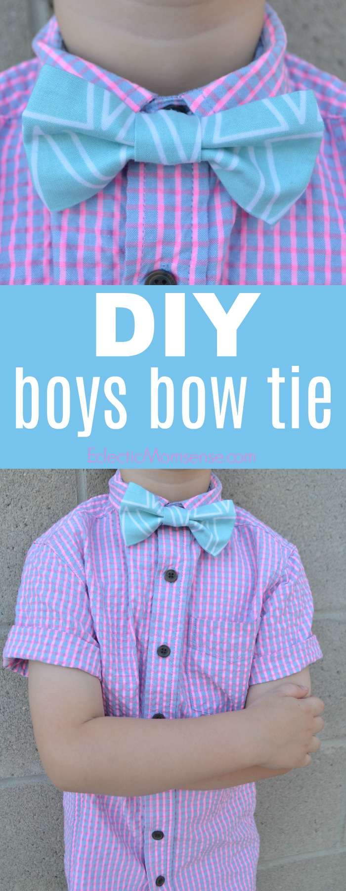 DIY Boys Bow Tie | Craft up custom bow ties with Simplicity patterns and Cricut Maker.