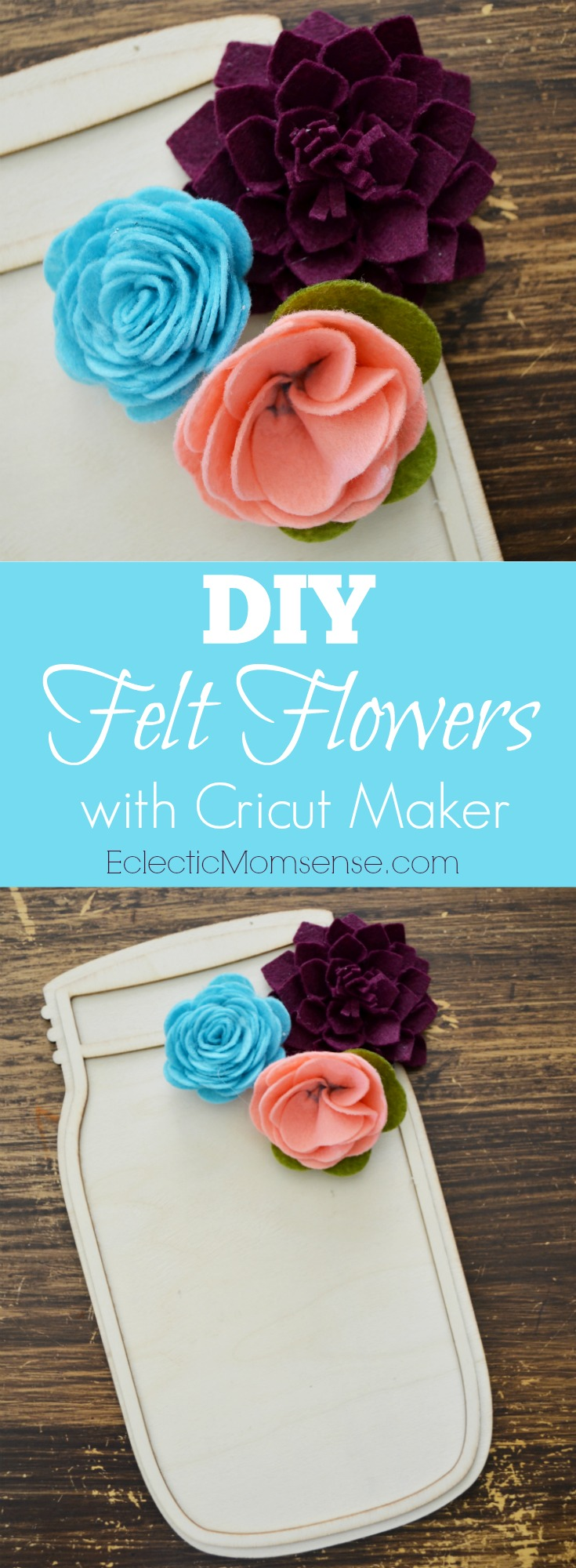 DIY Felt Flowers | Adorning your home with DIY felt flowers is so easy thanks to Simplicity and #Cricut Maker.