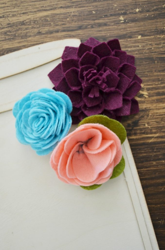 felt flower decor