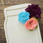 Simplicity Felt Flowers with Cricut Maker