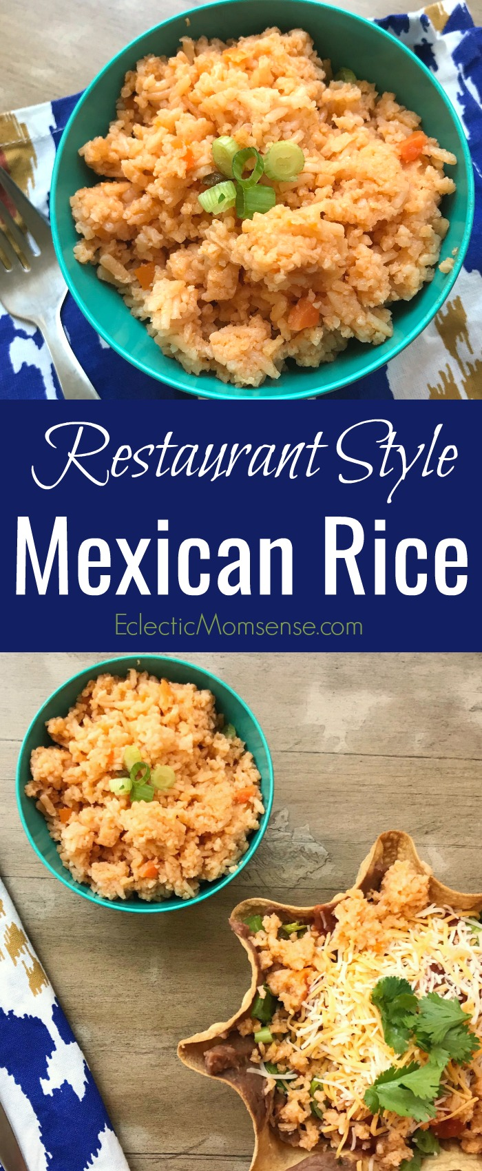 Try this simple recipe for Restaurant Style Mexican Rice! Tastes just like your favorite Mexican food joint. #recipe #food #rice #MexicanFood