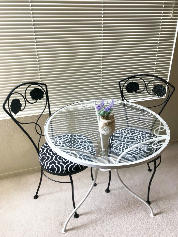 cafe table set- makeover