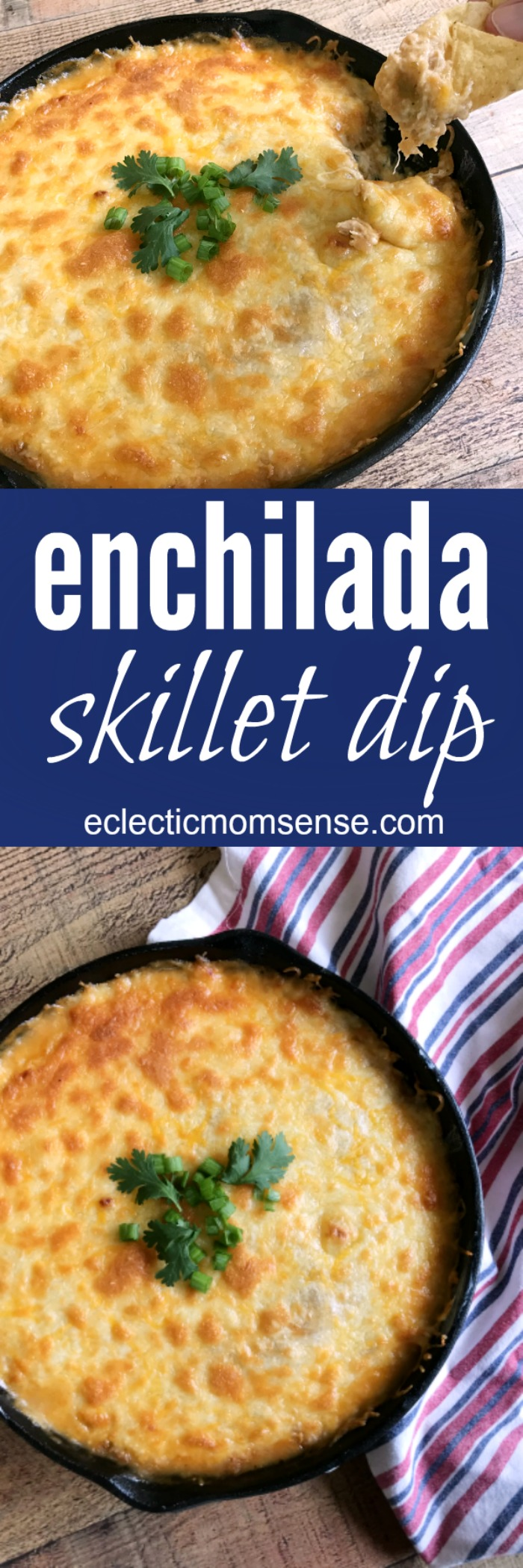 Chicken Enchilada Skillet Dip