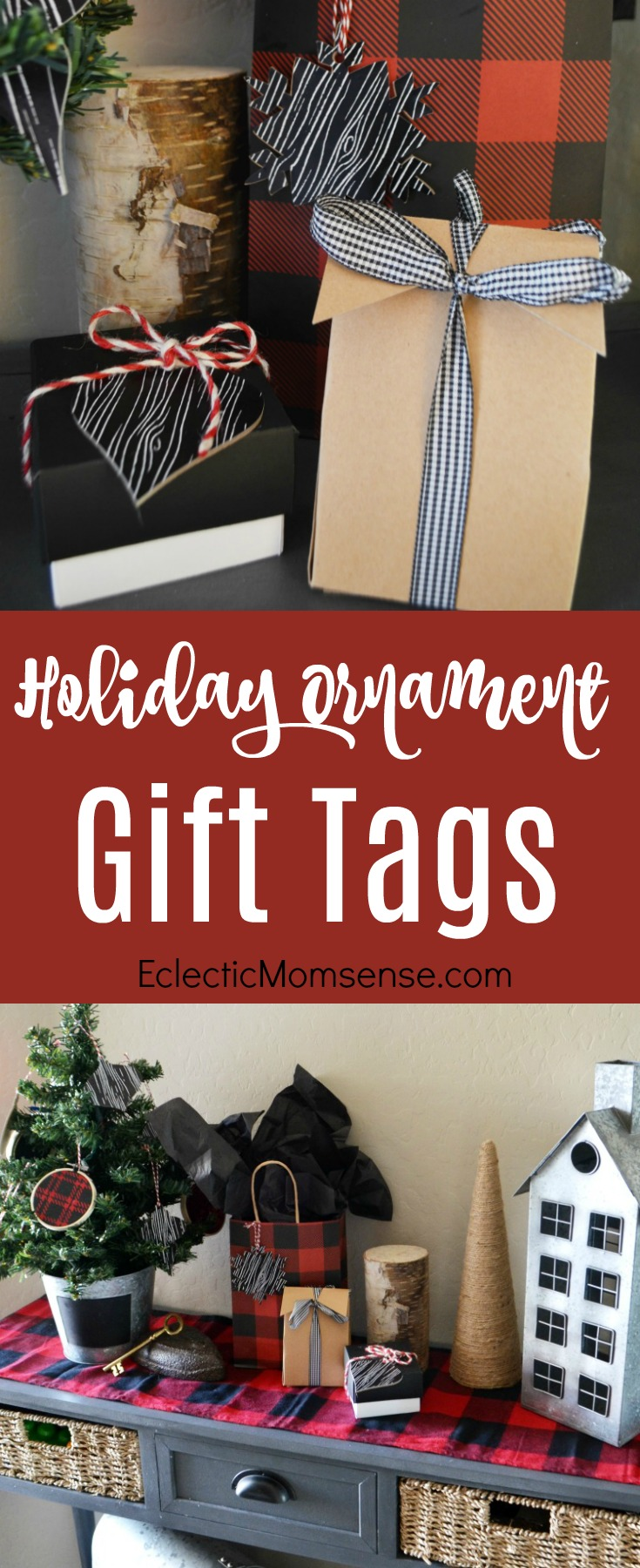 Holiday Ornament Gift Tags | Create easy holiday gift tags that double as ornaments with Cricut Maker. Plus 2 other easy handmade Cricut projects.