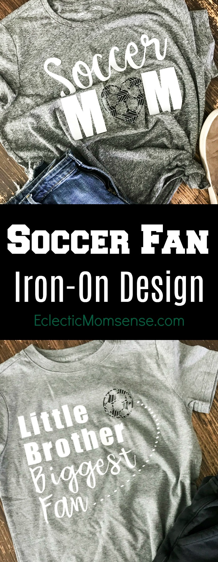 Create one of a kind iron-on shirts for your favorite soccer fans! || #cricut #cricutmade #ironon